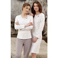 Piżama 379 2xl dł/r 2xl, ecru-mocca. cana, 2xl marki Cana