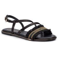 Sandały TOMMY HILFIGER - Feminine Satin Flat Sandal FW0FW04162 Black 990, w 6 rozmiarach