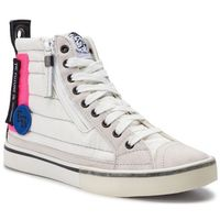 Sneakersy - d-velows mid patch w y01923 p2283 h7102 star white/pink fluo marki Diesel