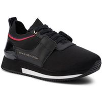 Sneakersy TOMMY HILFIGER - Knitted Sock Active City Sneaker FW0FW04147 Black 990