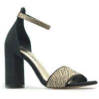 Sandały Karino 2998/043-1 Czarne/Beż zamsz