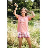 Piżama lns 498 a19 brzoskwiniowy-różowy - brzoskwiniowy-różowy marki Key