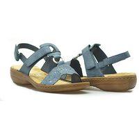 Sandały Rieker 60843-14 Granatowe