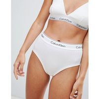 Calvin Klein Modern Cotton High Waist Ribbed Bikini Brief - White, w 2 rozmiarach