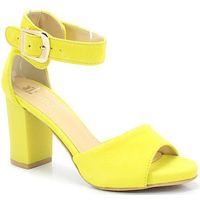 TYMOTEO 2661/2/G CYTRYNOWE - Sandały na słupku, kolor żółty
