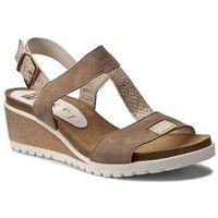Sandały NESSI - 17168 Beż 19/Złoty Gad
