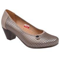 Czółenka comfort 1593 perła buty na haluksy na obcasie marki Axel