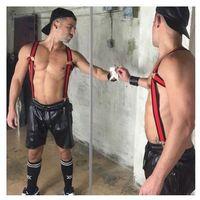 Boxer (es) Boxer bracer harness red szelki-harness czerwone