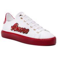 Sneakersy STOKTON - 764-D Vitello Bianco/Acc Rosso, kolor biały