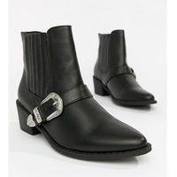 Truffle Collection Western Ankle Boots - Black