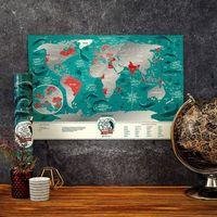 Mygiftdna Mapa zdrapka świat travel map™ marine world - mapa zdrapka świat travel map™ marine world