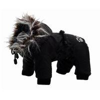 GRANDE FINALE Kombinezon Z02 dla psa czarny z białym futerkiem KOŃCÓWKA KOLEKCJI
