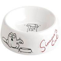 Biała ceramiczna miska dla kotów i psów Simon's Cat