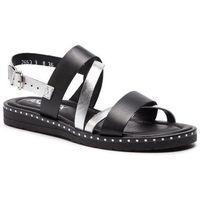 Sandały ANN MEX - 0193 01S+SR Czarny Srebrny, kolor szary