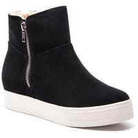 Botki STEVE MADDEN - Wanda Wedge Sneaker SM11000193-03002-015 Black Suede, w 5 rozmiarach