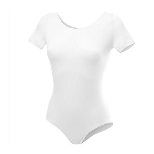 Body treningowe z krótkim rękawem b100k białe - biały, Rennwear