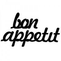 Dekosign Napis na ścianę bon appetit czarny bonappetit1-1 (5902808710028)