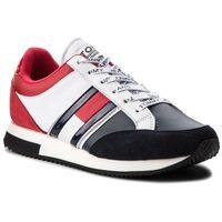 Sneakersy TOMMY JEANS - Casual Retro Sneaker EN0EN00317 Rwb 020, kolor wielokolorowy