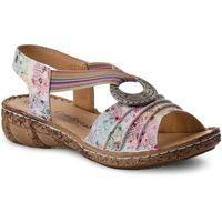 Sandały - 710890 weiss/floral 3 marki Comfortabel