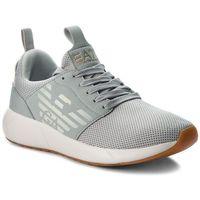 Sneakersy EA7 EMPORIO ARMANI - X8X023 XCC05 00460 Grey High Rise, kolor szary