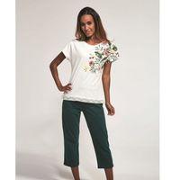 Bawełniana piżama damska Cornette 369/168 Lillian ecru, kolor beżowy