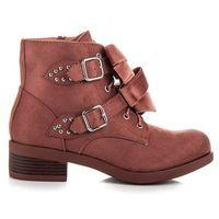 Buty ideal shoes Botki z kokardami