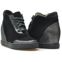 Sneakersy Venezia 2417 NERO-ARG Czarne, kolor czarny