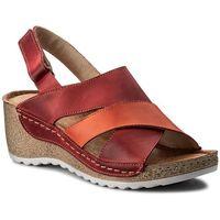 Sandały WASAK - 0493 Czerwony Pomarańczowy, kolor pomarańczowy