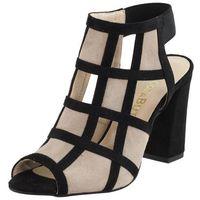 Sandały letnie beżowe słupek nubukowa/ zamszowa/ welurowa marki Vogue carla