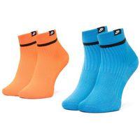 Nike Zestaw 2 par wysokich skarpet damskich - sk0206 910 niebieski pomarańczowy
