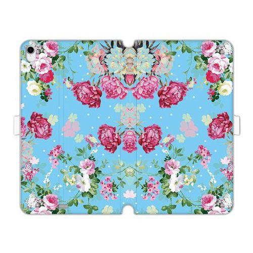 Apple iPad Pro 11 - etui na tablet Wallet Book Fantastic - różyczki na miętowym tle