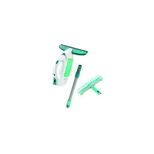 Myjka do szyb.Zestaw Leifheit Window Cleaner z drążkiem + myjka Biały/Zieleń