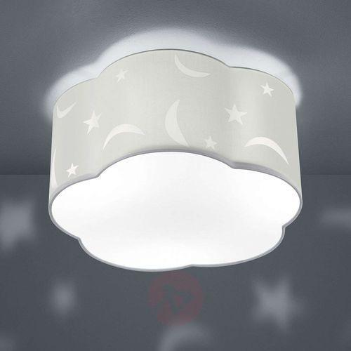 Lampa sufitowa Moony, dziecięca, biała (4017807399578)