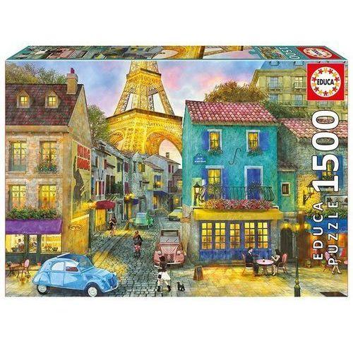 Puzzle 1500 elementów, paryskie ulice marki Educa