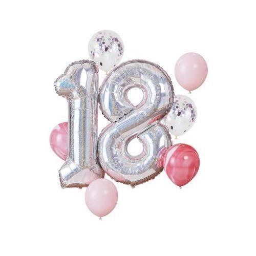 Zestaw balonów na osiemnaste urodziny - 1 komplet