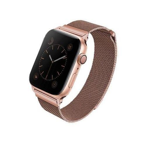 UNIQ pasek Dante Apple Watch Series 4 44MM Stainless Steel różwo-złoty/rose gold - Różowy \ Watch 4 44mm