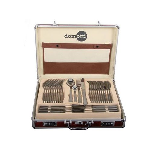 Domotti Komplet sztućców 72-elementowy ewa w aluminiowej walizce (5904134698049)