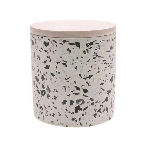 HKliving Świeca sojowa w białym słoiku o zapachu kwiatu kokosowego rozmiar L AKA3348, AKA3348