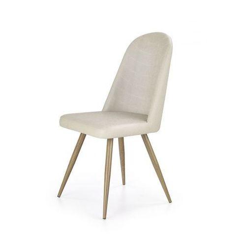 K214 krzesło ciemny kremowy / dąb miodowy marki Halmar