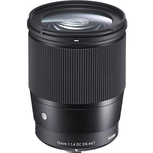Sigma 16 mm f/1,4 dc dn sony e (czarny)