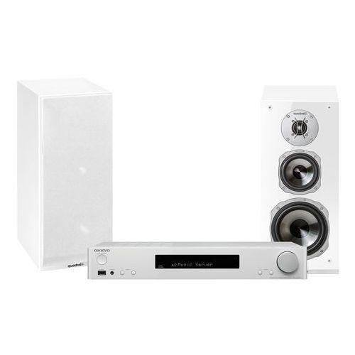 Onkyo Zestaw stereo tx-l20 + quadral argentum 530 biały + darmowy transport! (2900191444035)