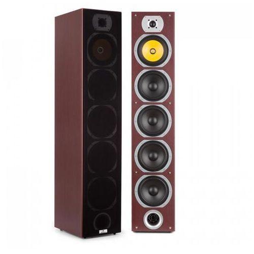 Auna v7b 4-drożne kolumny stojące bassreflex 440 w konstrukcja wieżowa mahon (4260509684644)
