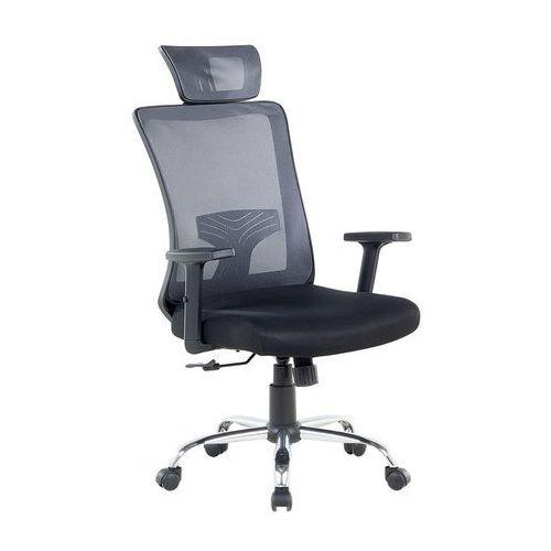 Krzesło biurowe szaro-czarne regulowana wysokość NOBLE (7081452373822)