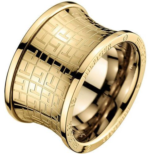 Tommy Hilfiger Oryginalny złoty pierścionek ze stali TH2700817 (obwód 58 mm) (2031500194164)