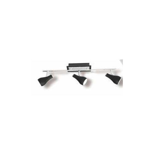 Kinkiet lampa ścienna delta 3x40w gu10 czarny kr177-3l marki Krislamp