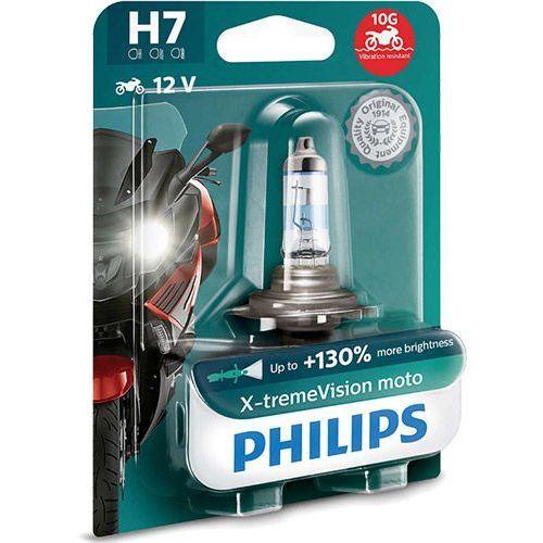 Żarówka Motocyklowa Philips® H7 X-tremeVision Moto | 12V 55W PX26d