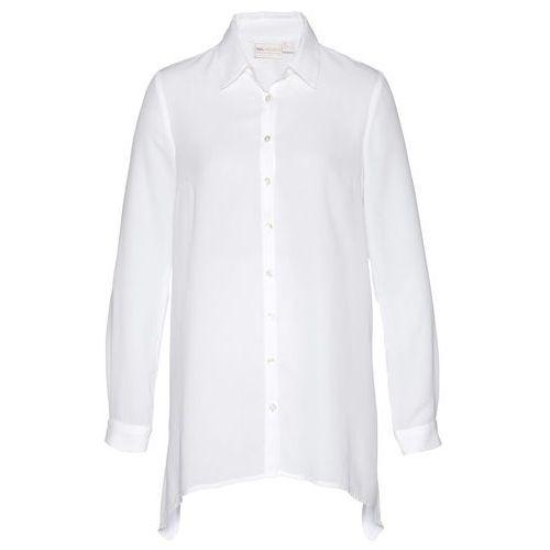 Shirt, długi rękaw bonprix srebrno-czarny z nadrukiem, w 8 rozmiarach