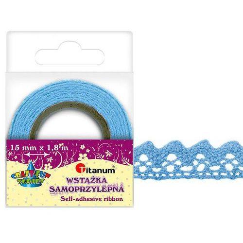 Koronka samoprzylepna taśma niebieska 15mm 1,8m - niebieski marki Titanum