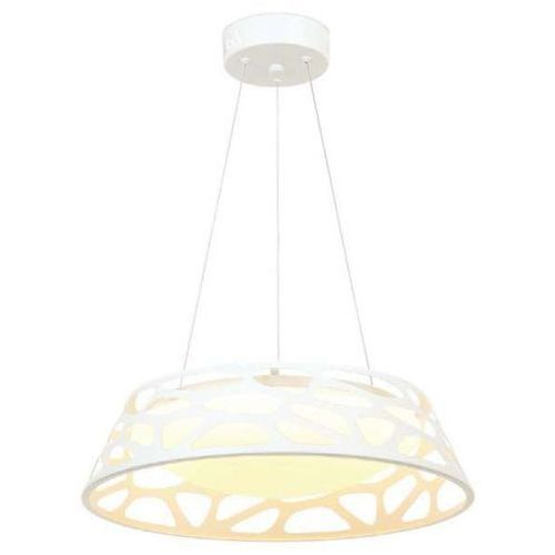 LAMPA wisząca FORINA Bianco S Orlicki Design okrągła OPRAWA zwis LED 24W z wycięciami biały, FORINA Bianco S