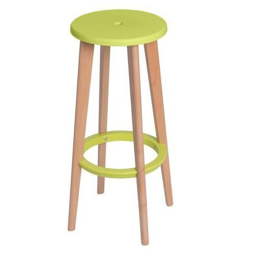 Stołek barowy Lush - zielony (5902385708937)